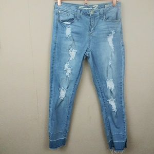 Seven7 Distressed Skinny Easy Fit Jeans